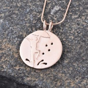 """Jewelry - 14K RG Over Sterling Silver Pendant With Chain 20"""""""